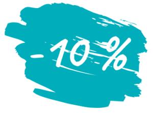 10% korting op wijn