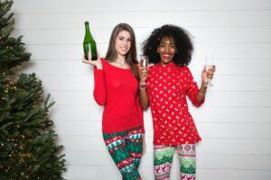 koop een fles wijn voor de feesdagen
